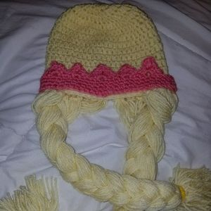 Girls princess beanie hat